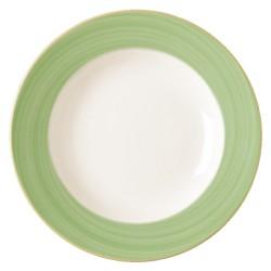 Farfurie intinsa, verde, Bahamas 27 cm