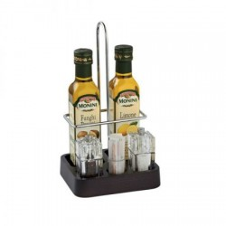 Suport oliviera cu rasnite si suport scobitori, culoare wenge