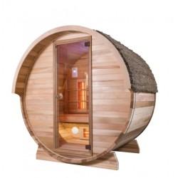 Sauna de exterior cu infrarosu, Barrel IR, 3 persoane