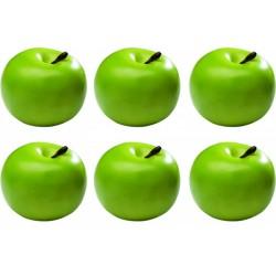 Set 6 mere decorative, culoare verde