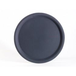 Tava servire, anti-alunecare, neagra, Ø 38 cm