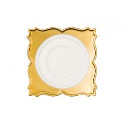 Farfuriuta suport ceasca pt cafea, Princess Golden, 15 cm