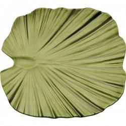 Platou frunza palmier, verde, 35 x 34 x 4,5 cm