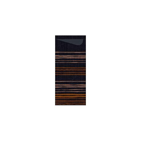 Sachete/ Port tacamuri BROOKLYN BLACK, 8,5 x 19 cm