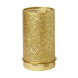 Suport lumanare, metalic, auriu, 200 x 120 mm