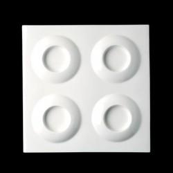 Platou patrat cu 4 alveole, 30x30CM, CURRY