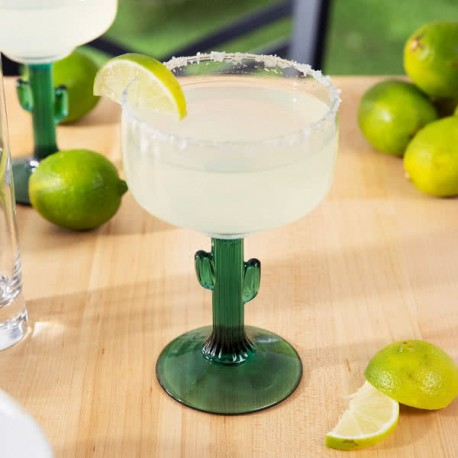 Pahar Margarita, model Cactus, 355 ml