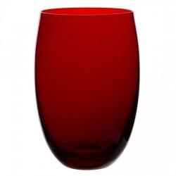 Tumbler rosu, Nude, 400 ml, sticla innobilata