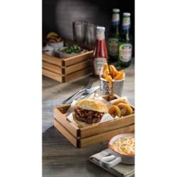 Ladita servire burger, 22 cm, lemn