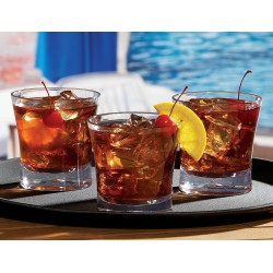 Pahar Double Old Fashioned, 320 ml, plastic