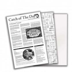 Hartie cerata ziar, 43 x 26 cm