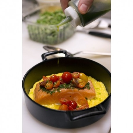 Vas cu manere, Belle Cuisine, 15 cm, negru