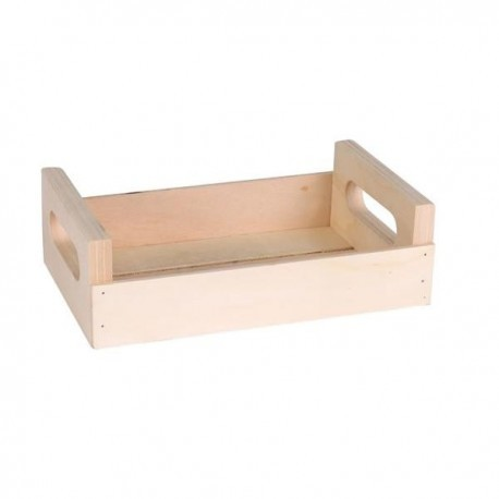 Cos paine retro rustic, lemn, 20x12x6cm
