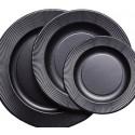Set Righe Opaque Black pentru catering evenimente 240 persoane