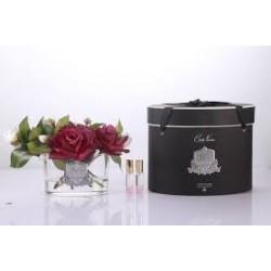 Parfumant camera cu aranjament floral Carmine Red si 2 rezerve parfum