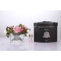 Parfumant camera cu aranjament floral Roses Peach si 2 rezerve parfum.