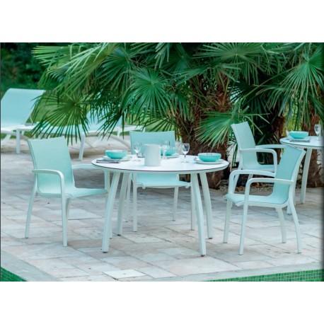 Set masa cu 4 scaune, Sunset Turquoise T35
