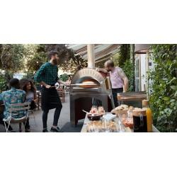 Cuptor profesional pizza, mobil, QUATTRO PRO, pe gaz