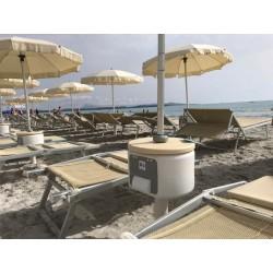 Masuta solara plaja cu spatiu depozitare si incarcator USB
