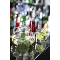 Ceainic cu infuzor, sticla borosilicata, 1 litru