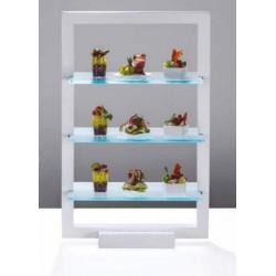 "Expozitor bufet ""Glassy"", 3 nivele, 40x25x62 cm"