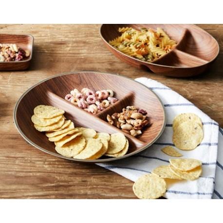 Platou nachos, plastic, ø24,5x3,5cm