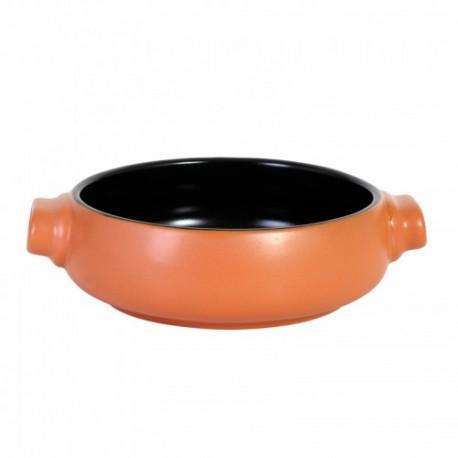 Caserola cu manere, stoneware, ø16x5cm