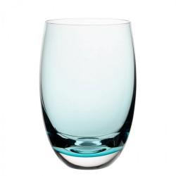 Tumbler turquoise, Nude, 400 ml, sticla innobilata