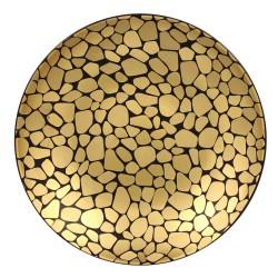 Farfurie neagra cu detalii aurii, PEBBLES, diam 31 cm