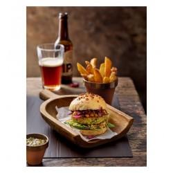 Platou lemn pentru burger, FARAS,  23x19 cm