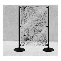 Panou separator decorativ floral h 140 cm x 100 cm