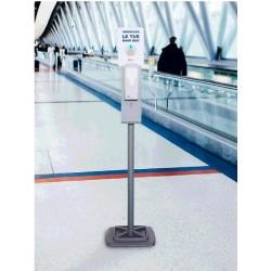 Stand cu dozator automatic pentru gel dezinfectantant, h 1.71 m