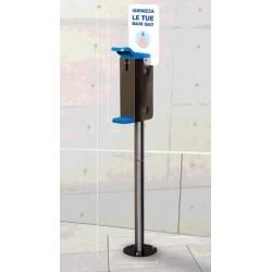 Stand cu dozator cu actionare cu cotul pentru gel dezinfectantant, h 1.29 m