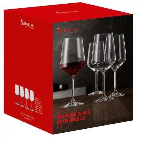 Cutie 4 pahare fine vin rosu Style 630 ml sticla innobilata