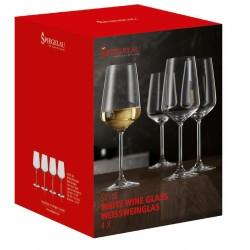 Cutie 4 pahare fine vin alb Style 440 ml sticla innobilata
