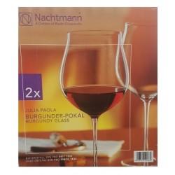 Cutie 2 pahare Burgundy sticla innobilata 960 ml