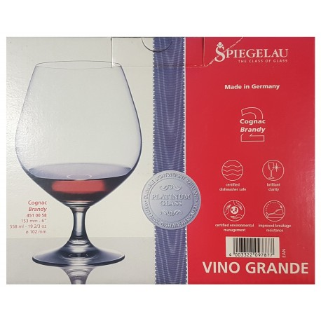 Cutie 2 pahare cognac sticla innobilata 558 ml