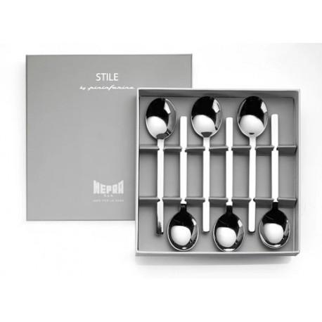Set 6 lingurite cafea in cutie cadou Stile by Pininfarina