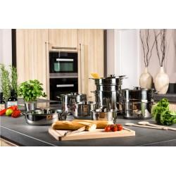 Set oale inox cu capace sticla 14 piese Gourmet Kitchen
