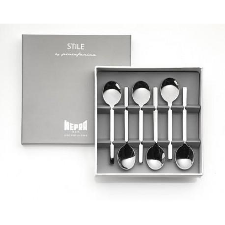 Set 6 lingurite espresso in cutie cadou Stile by Pininfarina