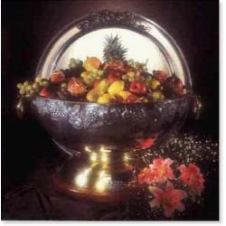 Fructiera / vaza eleganta din inox de inalta calitate diametru 75 cm