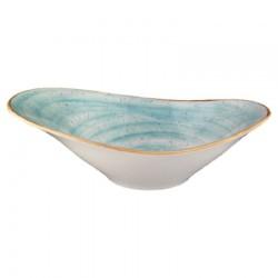 Bol oval, Aqua, 27 cm