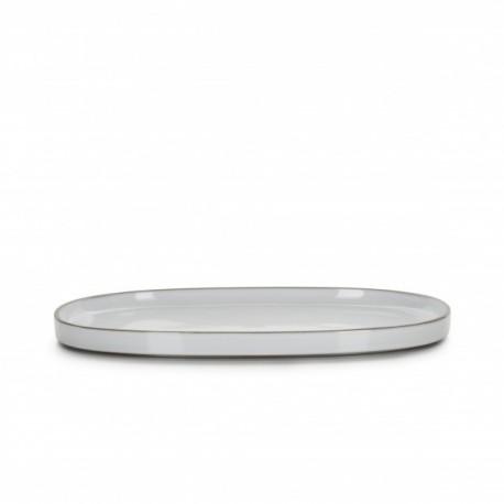 Platou oval, CARACTERE, 35.5 cm, alb