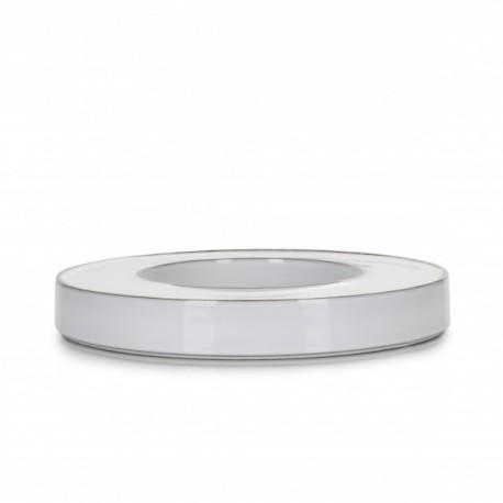 Piesa centrala pentru masa, CARACTERE, diam. 27.5 cm, alba