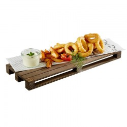 Palet Finger Food, lemn, 40 x 15 x 3 cm