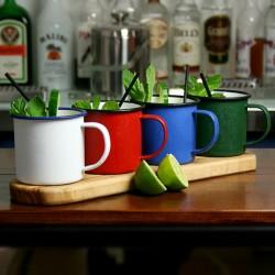 Cana Limonada, Emailata, verde, 350 Ml