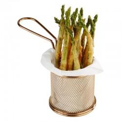 Cosulet Finger Food, auriu, diam 8 cm